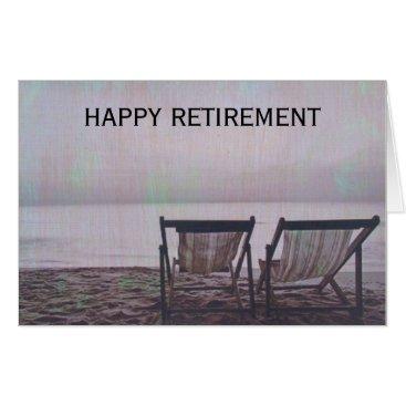 Beach Themed retiring chairs card