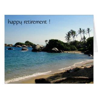 retiring coastline big greeting card