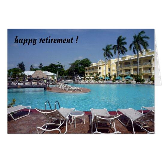 retiring poolside card