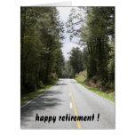 retiring roads big large greeting card
