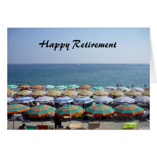retiring striped umbrellas card