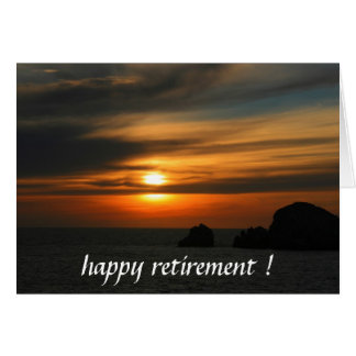 retiring sunset card