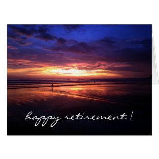 retiring sunset vivid big large greeting card