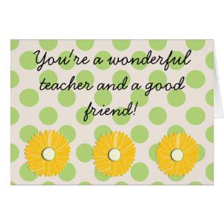 "Retiring Teacher ""Wonderful Friend"" Card"