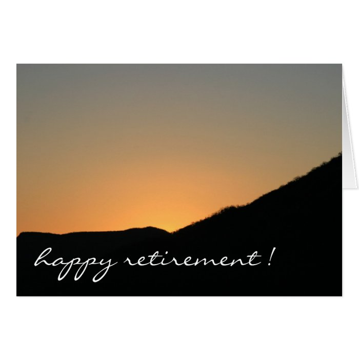 retiring to the sunset card