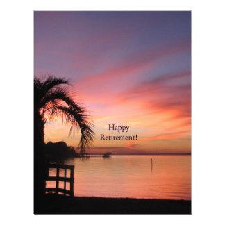 Retirment Florida Sunset Letterhead Template