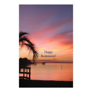 Retirment Florida Sunset Customized Stationery