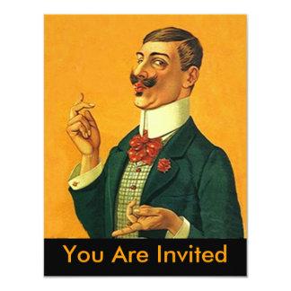 Retiro apuesto agudo de la invitación del fiesta