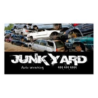 Retiro arruinador auto del desguace que recicla el tarjetas de visita