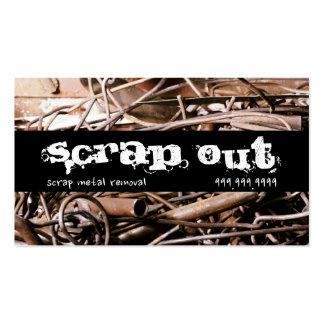 Retiro de la chatarra que recicla los desperdicios tarjetas de visita