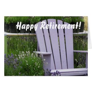 Retiro de la foto de la silla de jardín de la tarjeta de felicitación