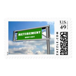 Retiro de la muestra de la carretera timbres postales