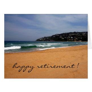 retiro de la opinión de la playa grande tarjeta de felicitación grande