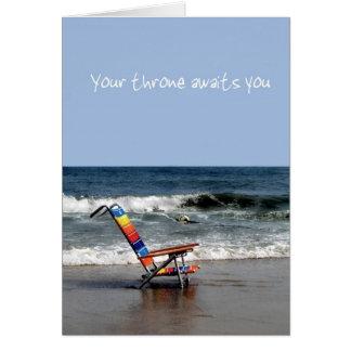 Retiro de la playa tarjeta