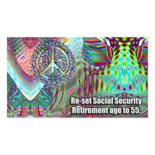 Retiro de la Seguridad Social en 55. Juego justo Tarjetas De Visita