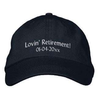 ¡Retiro de Lovin! - Personalice la fecha Gorra De Beisbol
