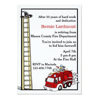 Retiro del bombero/invitación de la fiesta de invitación 12,7 x 17,8 cm