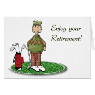 Retiro del golfista tarjeta de felicitación