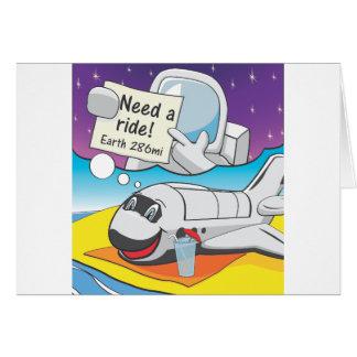 Retiro del transbordador espacial tarjeta de felicitación