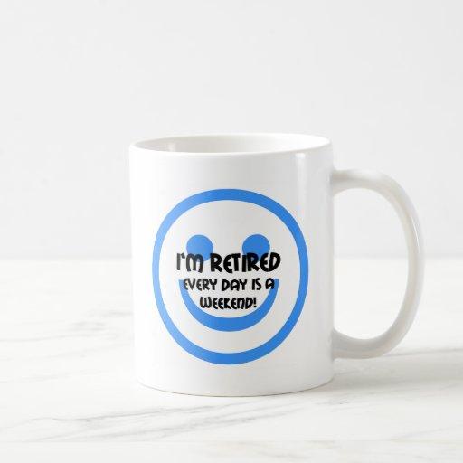 Retiro divertido de la sonrisa tazas de café