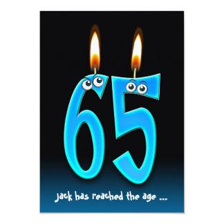 """Retiro en el fiesta 65 con los globos del ojo invitación 5"""" x 7"""""""