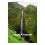 Retiro feliz, caídas de Akaka, Hawaii, tarjeta