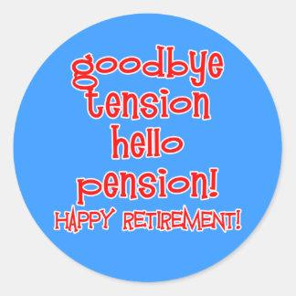 ¡Retiro feliz! Camisetas y regalos del jubilado Pegatina Redonda
