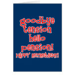¡Retiro feliz! Camisetas y regalos del jubilado Tarjeta