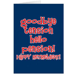 ¡Retiro feliz! Camisetas y regalos del jubilado Tarjeta De Felicitación