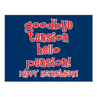 ¡Retiro feliz! Camisetas y regalos del jubilado Tarjeta Postal
