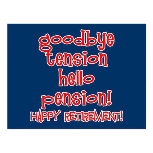 ¡Retiro feliz! Camisetas y regalos del jubilado Postales