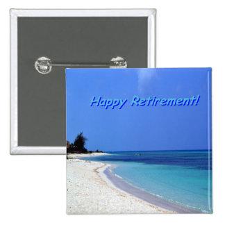 Retiro feliz - cielo azul, océano azul pin