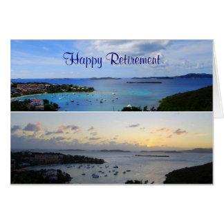 Retiro feliz, collage de la bahía de Cruz, St. Tarjeta De Felicitación