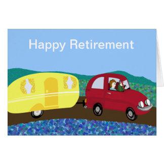 Retiro feliz tarjeta de felicitación