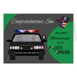 Retiro, hijo, tarjeta de felicitación de la policí