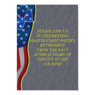 Retiro militar invitación 12,7 x 17,8 cm