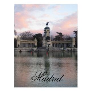 Retiro Park, Madrid, Spain Postcard