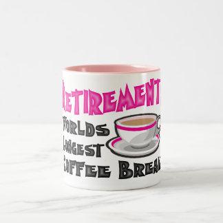 Retiro (rosa) taza de dos tonos