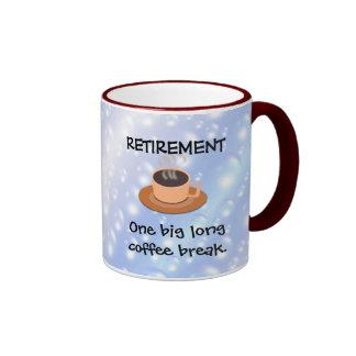 RETIRO: Un descanso para tomar café largo grande Taza De Dos Colores