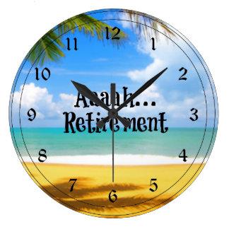 Retiro y relajación de Aaah… Reloj Redondo Grande