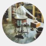 Retort in Chem Lab Classic Round Sticker
