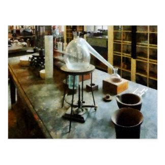 Retort in Chem Lab Postcard