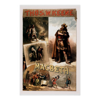 retouched Vintage Shakespeare Macbeth Poster