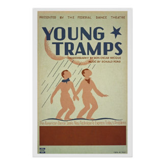 Retouched Young Tramps choreography WPA Poster