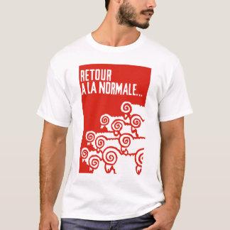 retour una camiseta del normale 1 del la