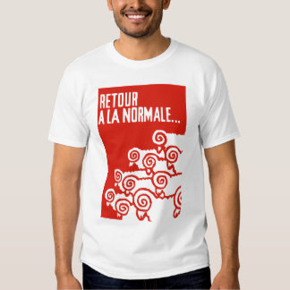 retour una camiseta del normale 1 del la camisas