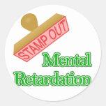 Retraso mental etiquetas redondas