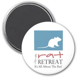 """Retratamiento 3"""" grande de la rata imán redondo"""