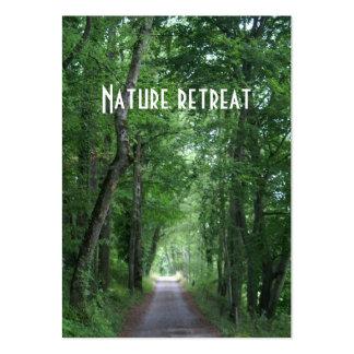 retratamiento de la naturaleza plantilla de tarjeta de visita