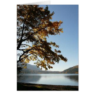 Retratamiento del lago autumn tarjeta